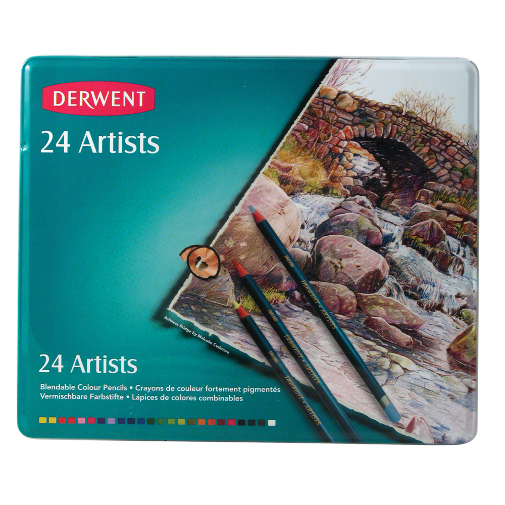 สีไม้ DERWENT Artists - 24 Colours