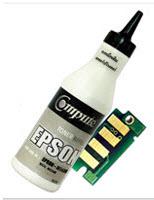 ชุดผงหมึกพร้อมชุดถาดชิป (Refill Toner) For EPSON C13S050650,C13S050652