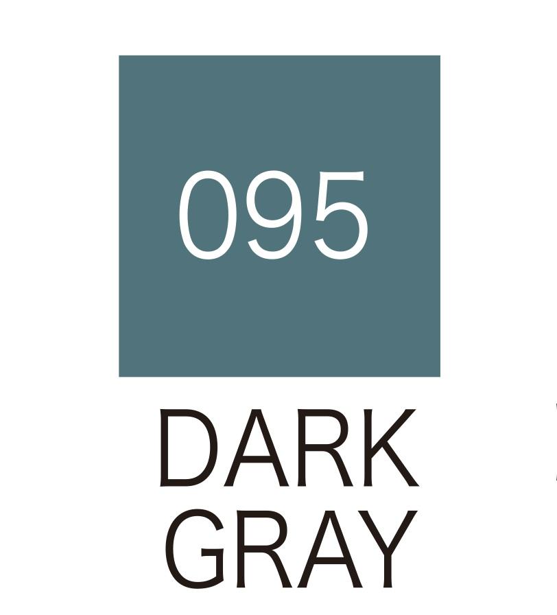 ปากกาสี 2 หัว ZIG CLEAN COLOR No.095 - Dark Gray