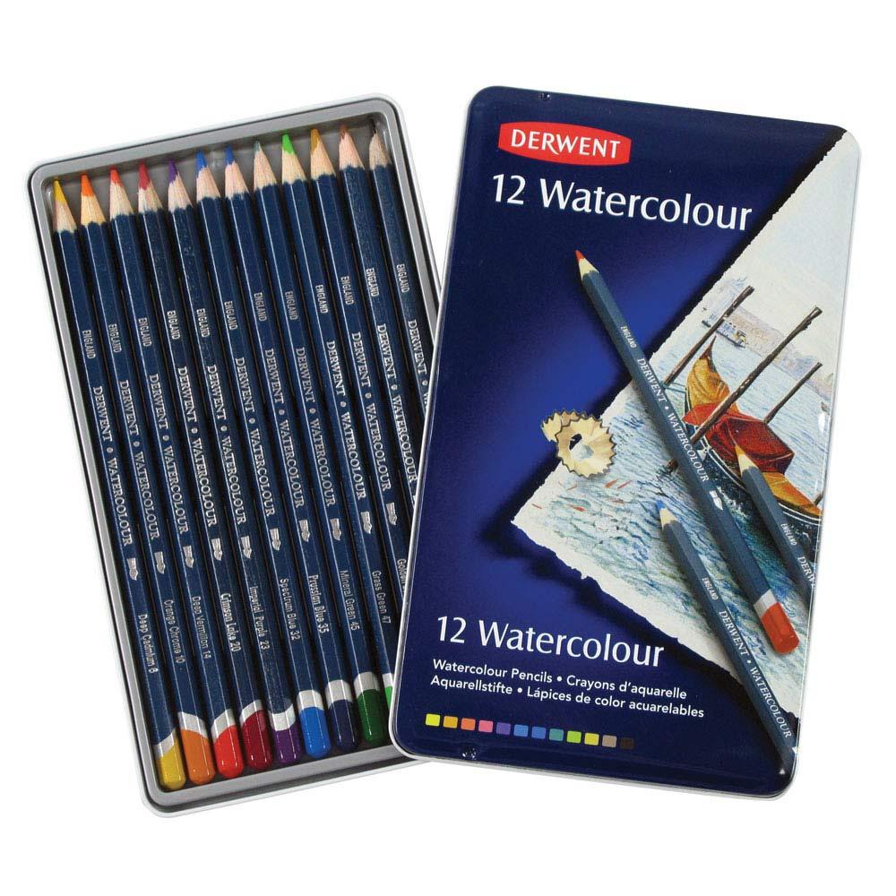 สีไม้ระบายนํ้า DERWENT Watercolour - 12 colours