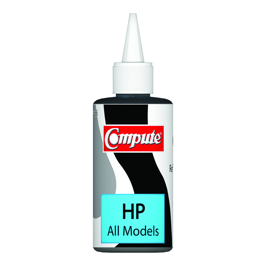 น้ำหมึกเติม (Refill Inkjet) คอมพิวท์ For HP All model Black