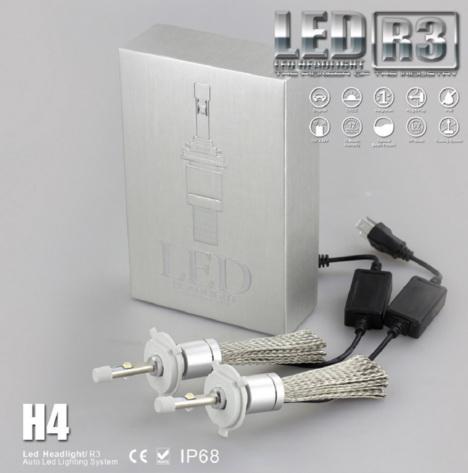 ไฟหน้า LED ขั้ว H4 Cree 2 ดวง 40W R3 No Fan