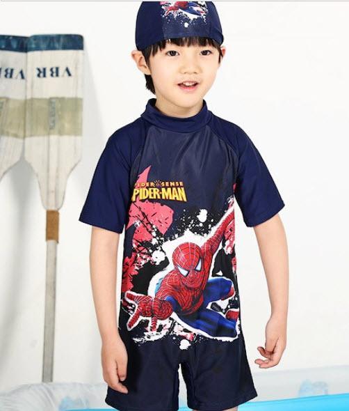 ชุดว่ายน้ำบอดี้สูท spiderman