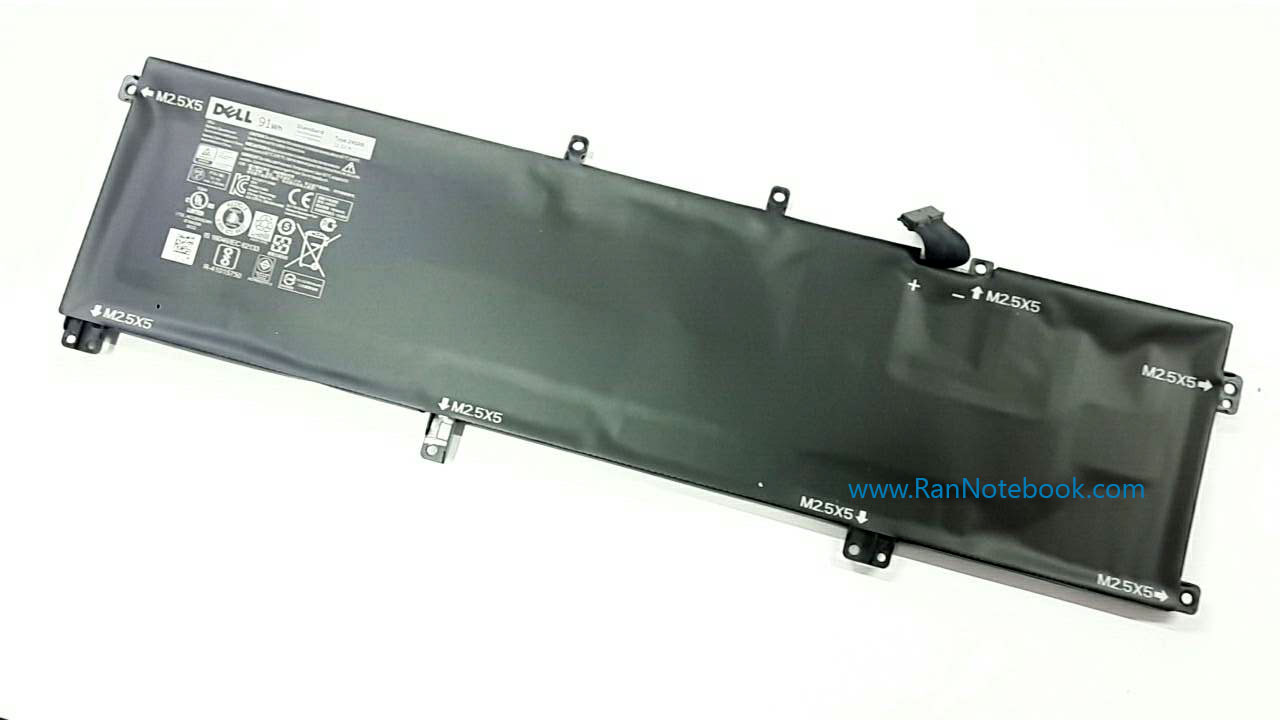 Battery Dell Precision M3800 Dell 245RR 91Whr แบตแท้ ประกัน ศูนย์ Dell Thailand