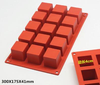 แม่พิมพ์ซิลิโคน สี่เหลี่ยม 15 ช่อง 4*4 cm