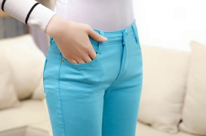กางเกงสกินนี่ผ้ายีนส์ ฟอกสี สีที่ 2