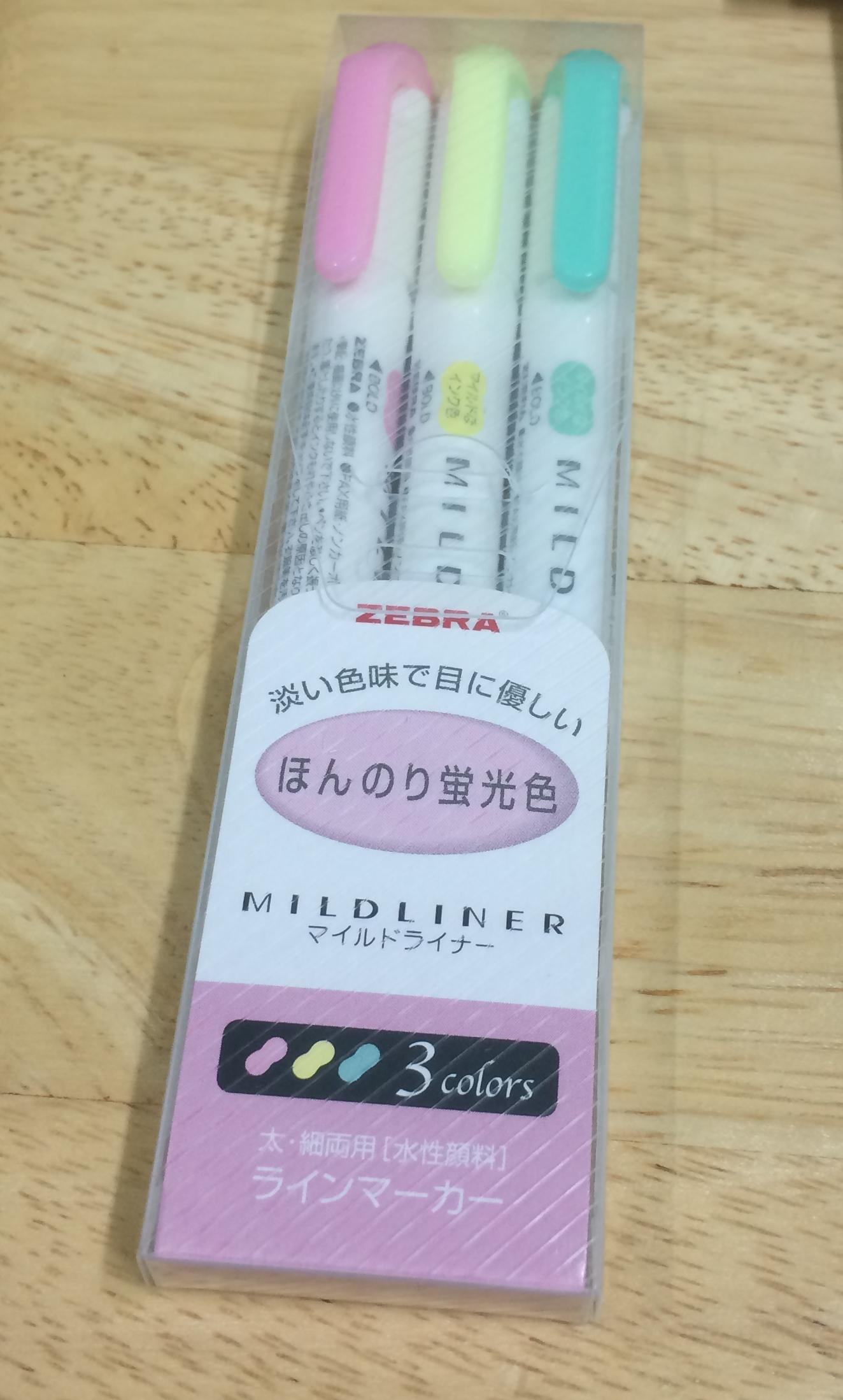 Mildliner Highlighter - Set 3 Colors