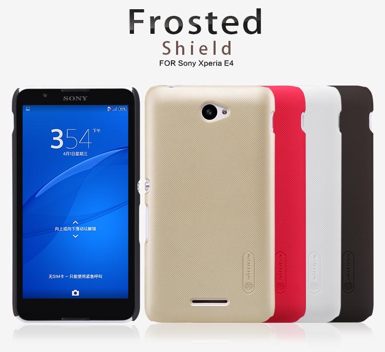 เคส Sony Xperia E4 ของ Nillkin Super Frosted Shield Case +ฟิล์มกันรอย