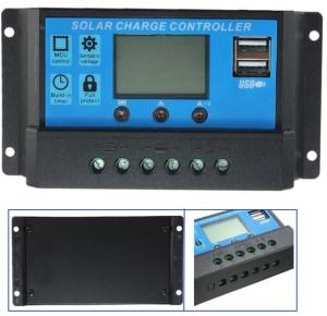 โซล่าชาร์จคอนโทรเลอร์ (Solar Charge Controller) มี dual usb ports 20Amp - 12V / 24V