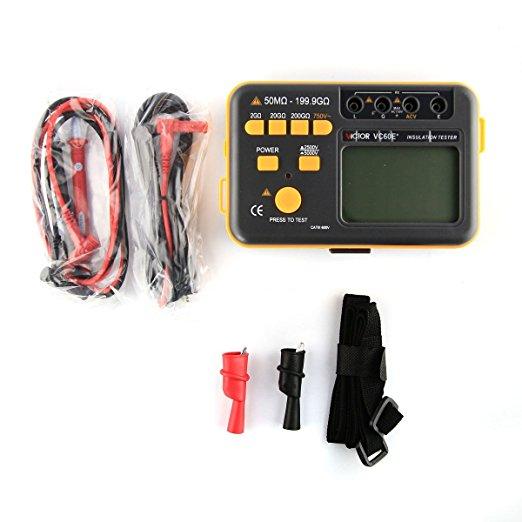 เครื่องทดสอบฉนวน เครื่องวัดความต้านทานฉนวน เมกกะโอห์มมิเตอร์ Ground Resistance Meter Magger Meter Insulation Tester ยี่ห้อSmart Sensor รุ่น VICTOR VC 60E+ 5000V 200G OHM