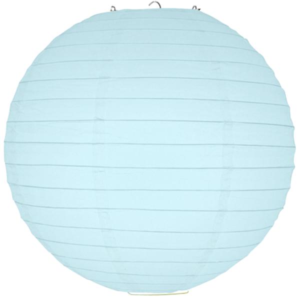 40 cm. โคมไฟกระดาษ สีฟ้าอ่อน