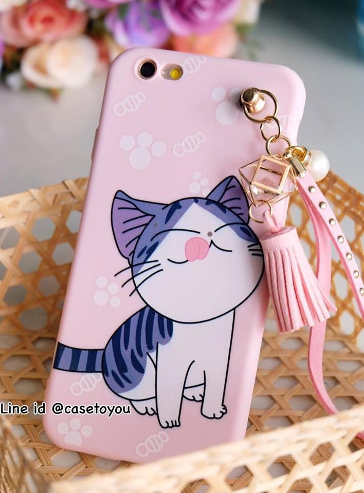 แมวจี้ พู่ห้อย iPhone 5/5S/SE