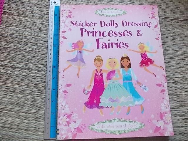 Sticker Dolly Dressing Princesses & Fairies (Usborne Activities)
