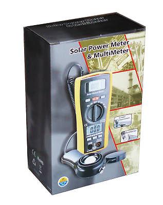 เครื่องวัดแสงอาทิตย์พร้อมมัลติมิเตอร์(Solar Power meter and Multimeter) ยี่ห้อ CEM รุ่น LA-1017