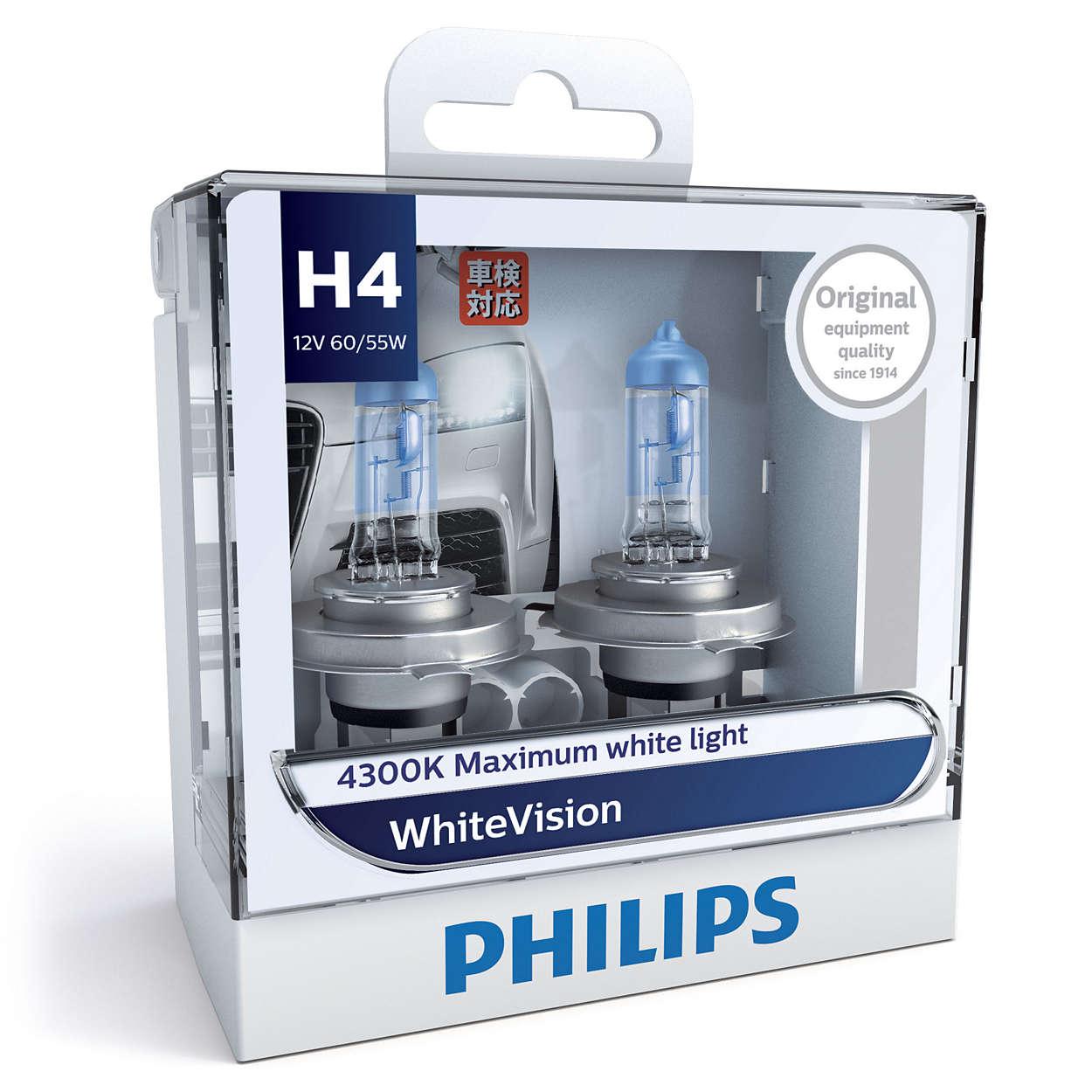 หลอดไฟ Phillip WHV 4100K H4 60/55W