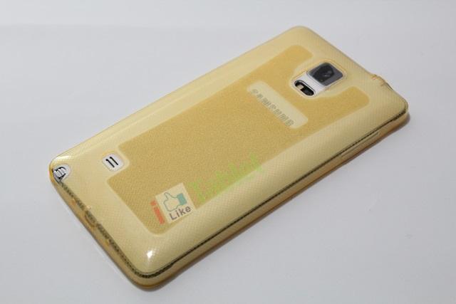 เคส Galaxy NOTE 4 ซิลิโคน TPU นิ่มมือ สวยหรู สีเหลือง ส่งฟรี