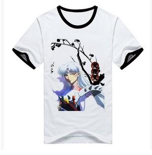 เสื้อยืด Inuyasha Sesshoumaru [แขนขลิปดำ]