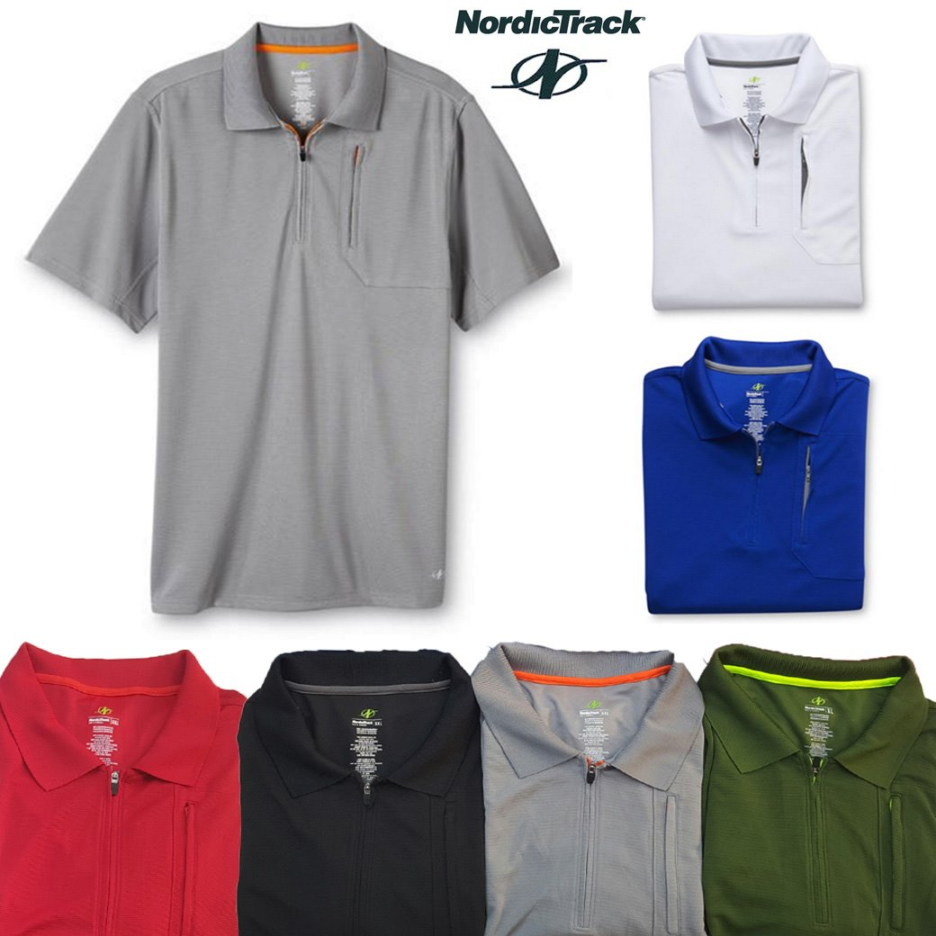 NordicTrack Zip-Front Polo Shirt