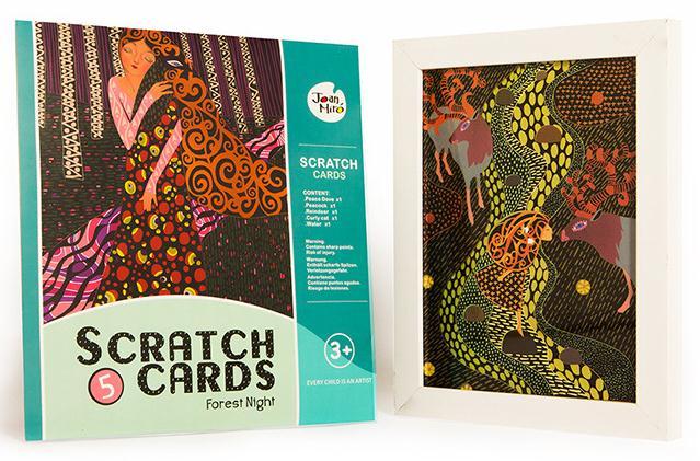 Scratch Cards - Forest Night การ์ดศิลปะขูด ชุดป่ารัตติกาล