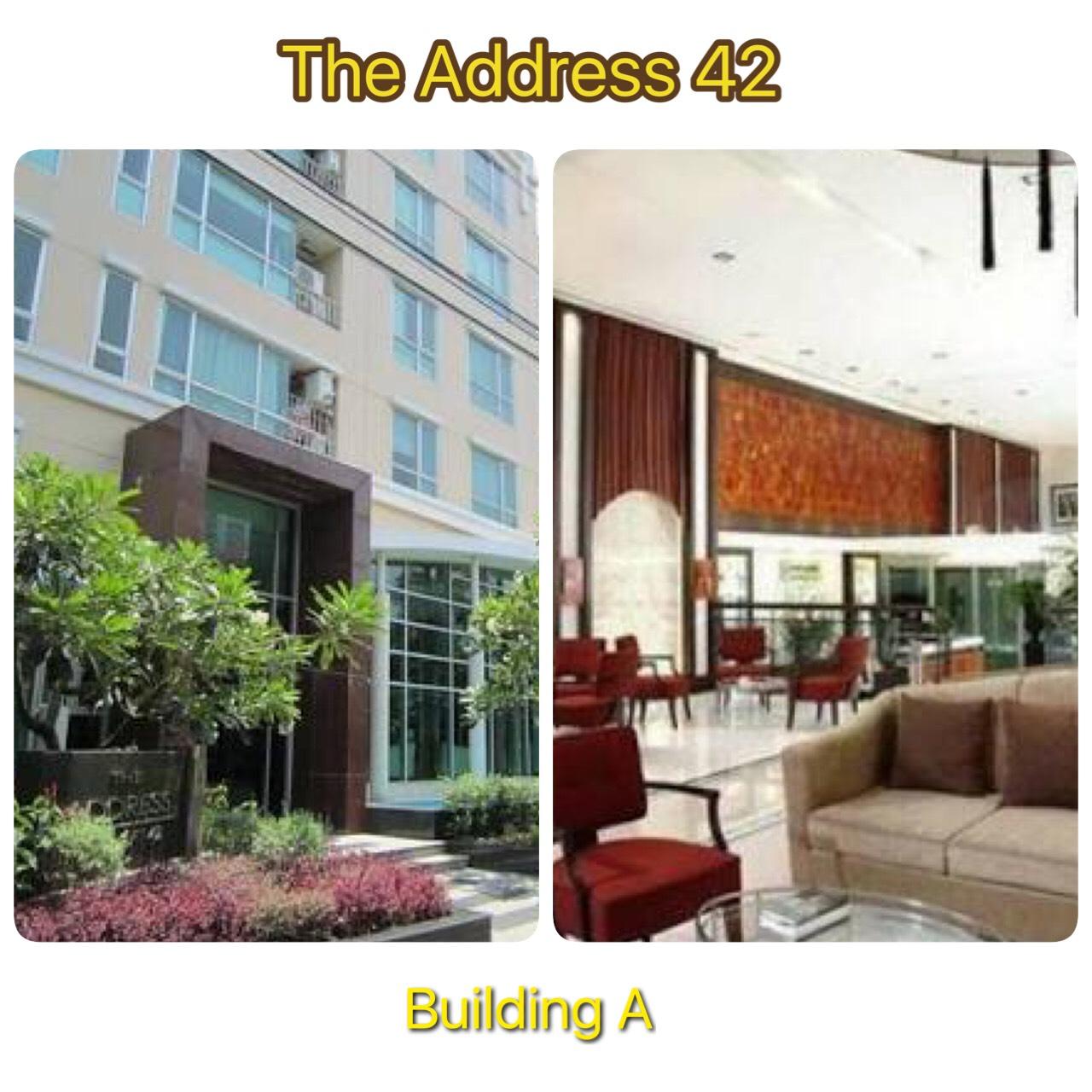 รหัสทรัพย์ 11581 ให้เช่าคอนโด The Address Sukhumvit 42 (ดิ แอดเดรส สุขุมวิท 42) 2 ห้องนอน 2 ห้องน้ำ