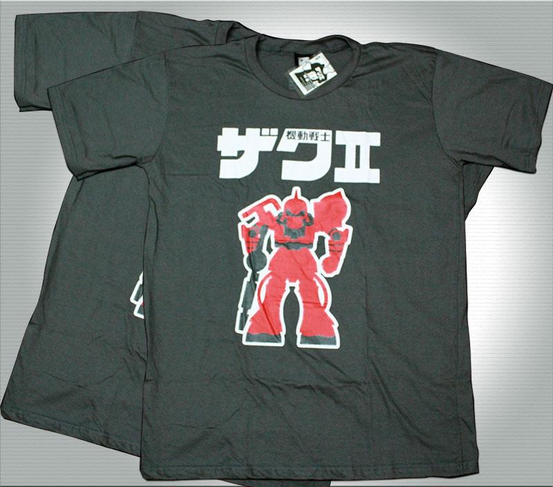 T-Shirt เสื้อยืดกันดั้ม แซค (Zaku II) สุดเท่ห์ สีเทา จากร้าน GUNZU !!โปรโมชั่น