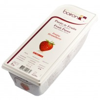 Boiron สตรอเบอรี่บดแช่แข็ง (Boiron Puree Strawberry ) 1 kg