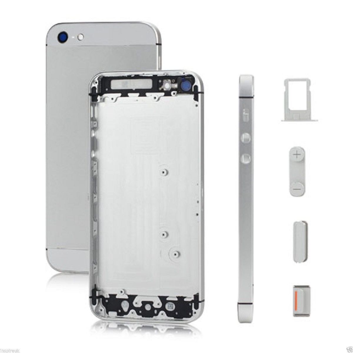 อะไหล่ไอโฟน5 เคสกลางไอโฟน 5 (สีขาว)