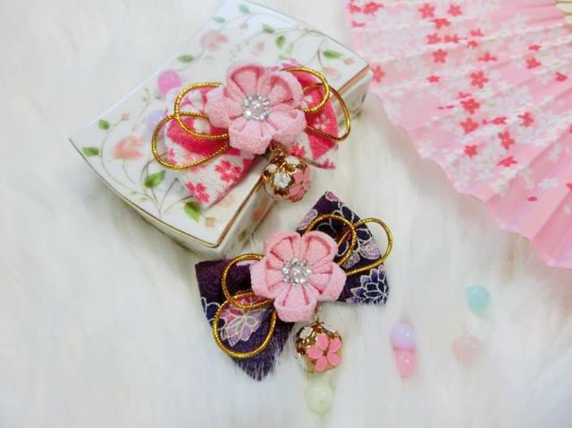 ๋Japanese hair clip กิ๊ปติดผม สำหรับใส่คู่กับชุดกิโมโนน่ารักๆ