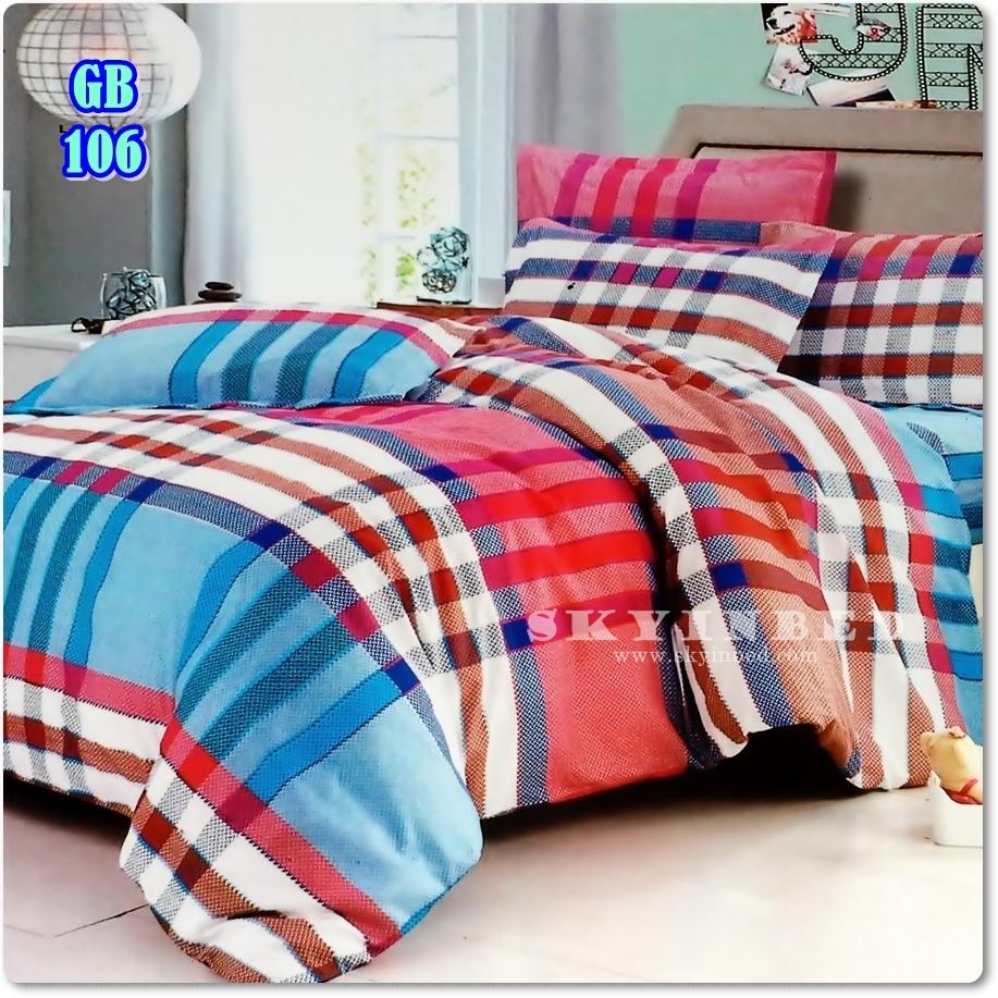 ผ้าปูที่นอนราคาถูก ขนาด 5 ฟุต(5 ชิ้น)[GB-106]