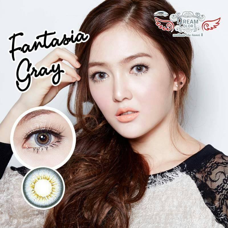 Fantsia Gray Dreamcolor1เลนส์นิ่มใส่สบาย คอนแทคเลนส์ ขายส่งคอนแทคเลนส์ ขายส่งBigeye Bigeyeเกาหลี