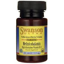 Swanson Ultra Methylcobalamin High Absorption B-12 2.5 mg / 60 Tabs