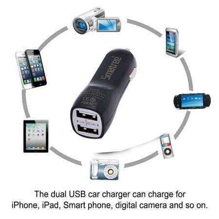 Smatree Dual USB Car Charger