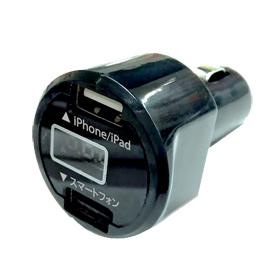 Socket แปลงพอร์ต 2 USB พร้อมจอแสดงกระแสไฟ
