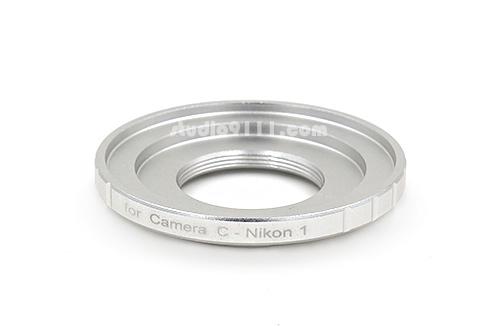 อแดปเตอร์แปลงท้ายเลนส์ C-MOUNT สี Silver ใช้กับกล้อง NIKON 1