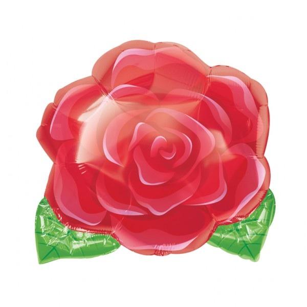 ลูกโป่งดอกกุหลาบแดง