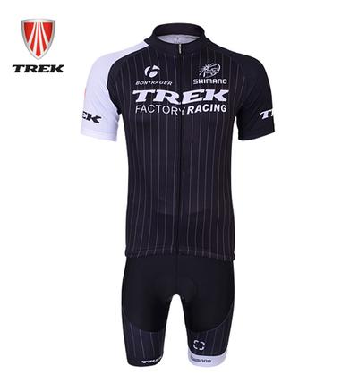 ชุดปั่นจักรยานแขนสั้นทีม TREK เสื้อปั่นจักรยาน กับ กางเกงปั่นจักรยาน