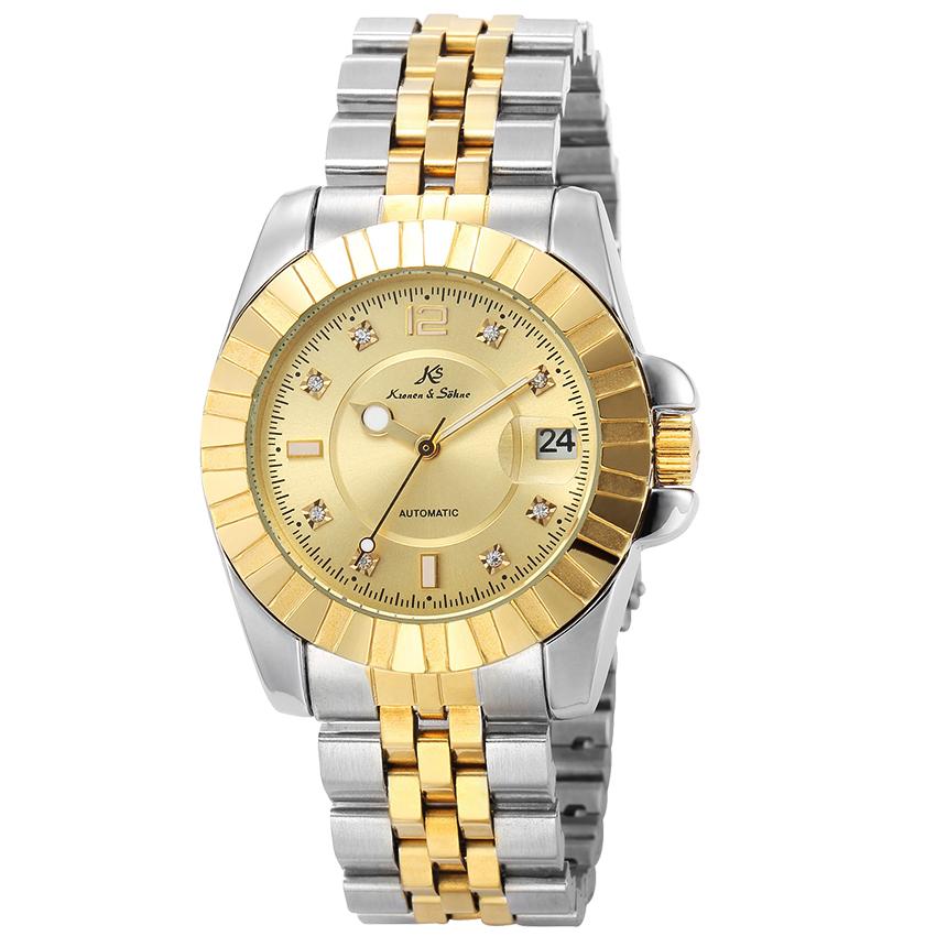 นาฬิกาข้อมือผู้ชายออโตเมติก KS Automatic Luxury KS312 ฝังเพชร Rhinestone สายแสตนเลส