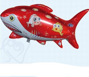 ลูกโป่งปลาฉลามสีแดง