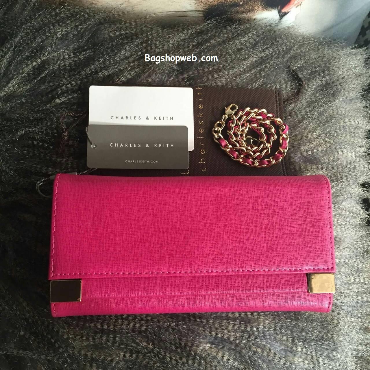 กระเป๋าสตางค์ Charles&keith Wallet Pink