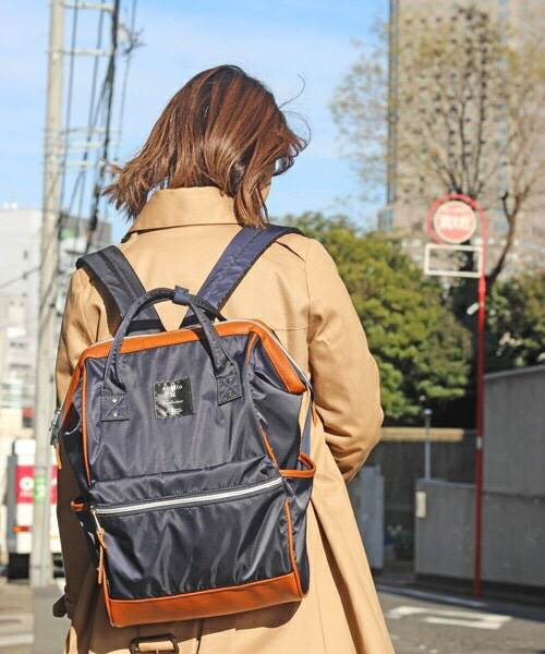 Anello x Collective Nylon & PU Large Backpack ราคา 1,490 บาท Free Ems