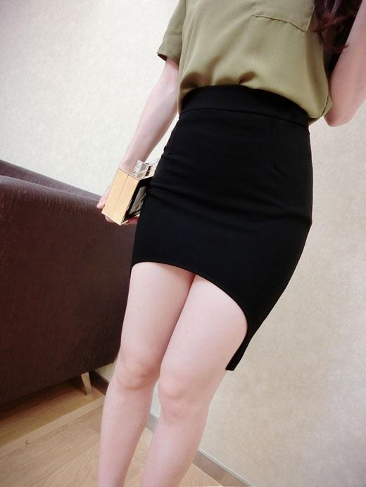 กระโปรงสั้นสไตล์ผู้หญิงเซ็กซี่ สีดำ