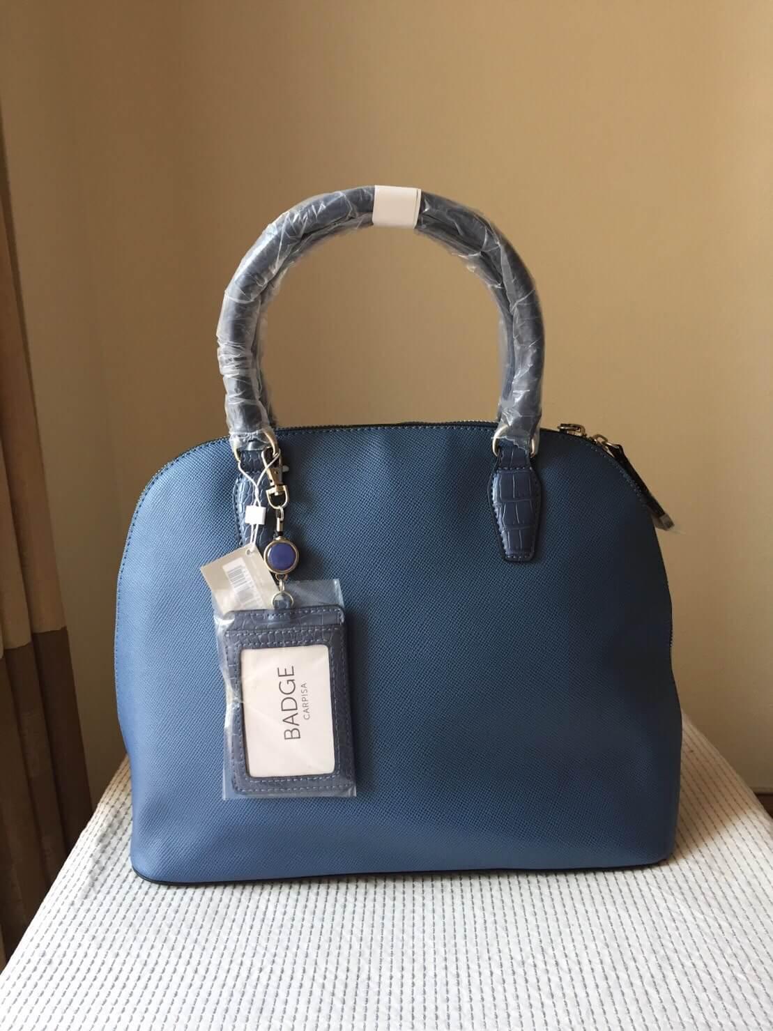 กระเป๋า Carpisa แบรนด์ดังจากอิตาลี สี NAVY หนัง saffiano เรียบหรูดูดี ทรงสุดฮอต ใบใหญ่