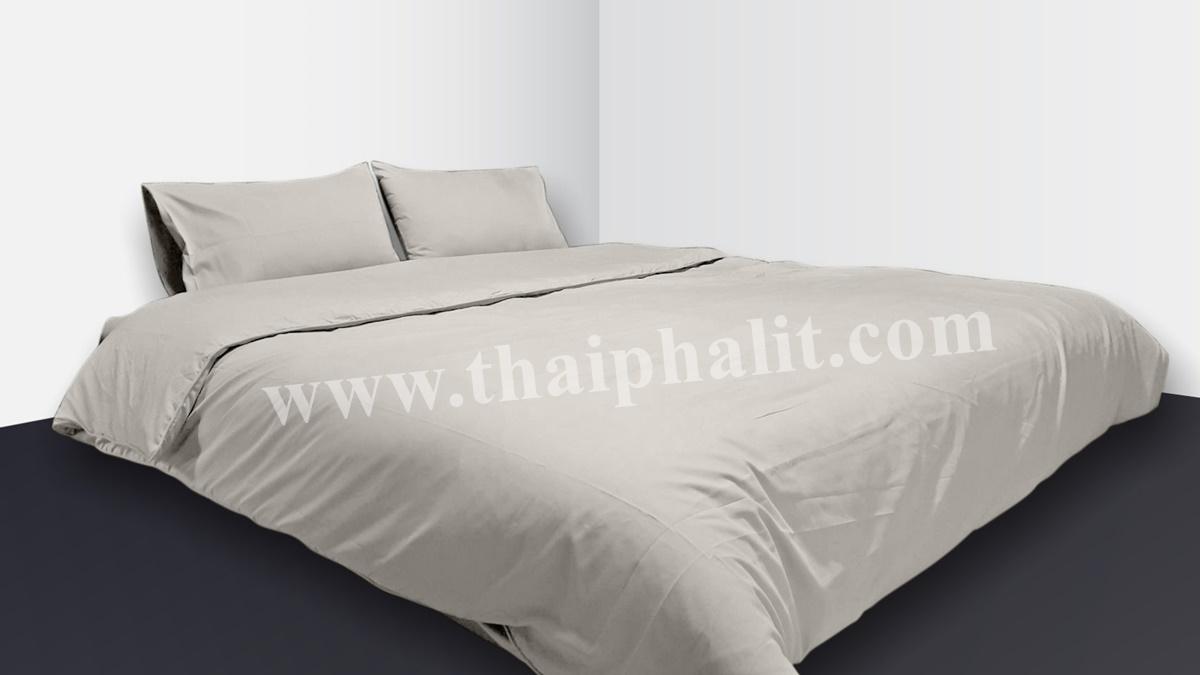 เซตผ้าปูที่นอนผ้าไมโครเทค สีเทา (เบอร์ 02)