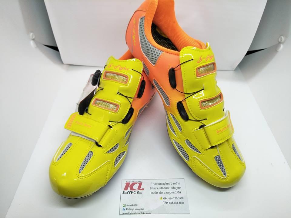 รองเท้าปั่นจักรยาน S-Fight รุ่น F16 รองรับทั้งคลีตเสือหมอบและเสือภูเขา ปรับความแน่นแบบดิสก์