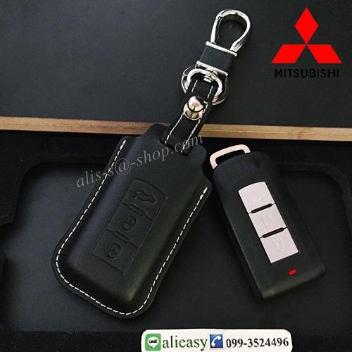 ซองหนังแท้ ใส่กุญแจรีโมทรถยนต์ หนัง Hi-end Mitsubishi Mirage,Attrage,Triton,Pajero