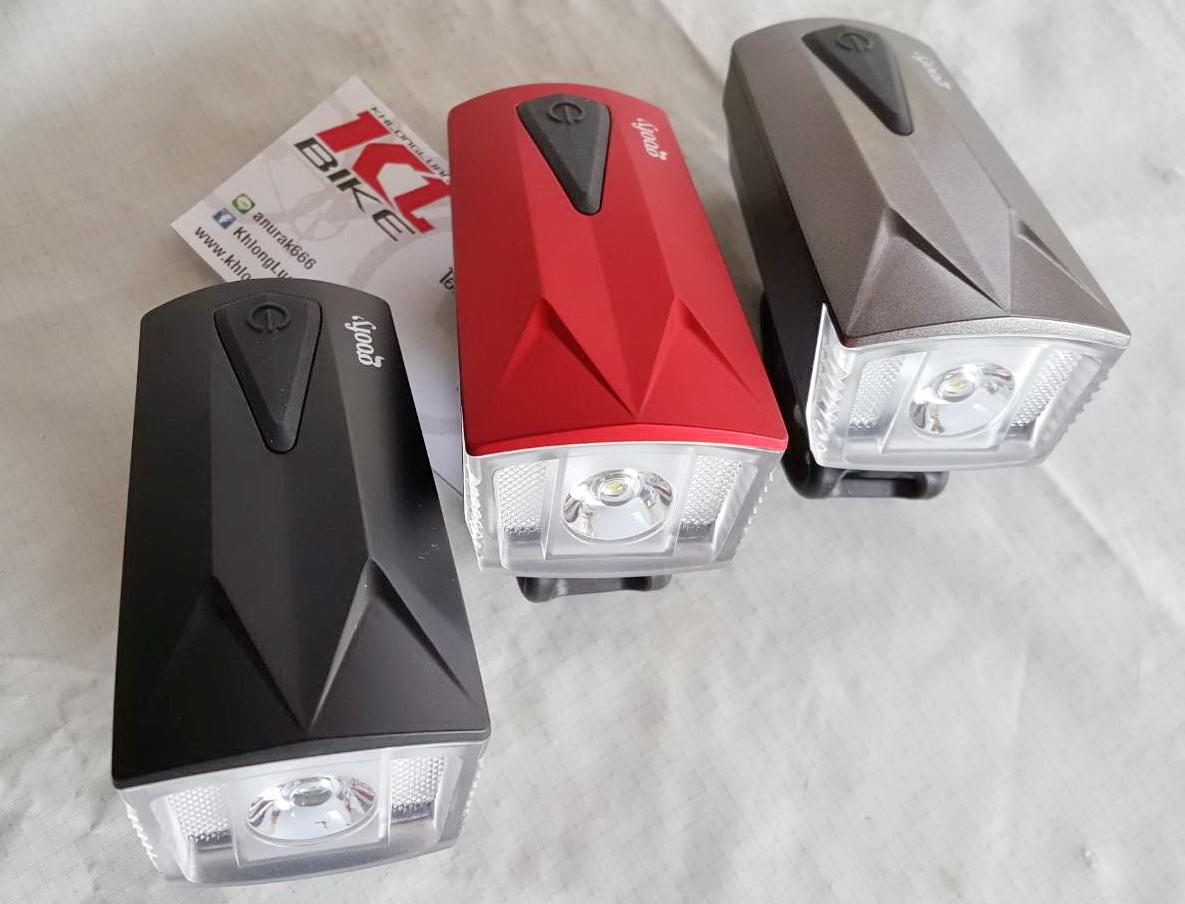 ไฟหน้าและแตรสัญญาณ แบบ 2 in 1 ยี่ห้อ Goofy แบตชาร์จ USB