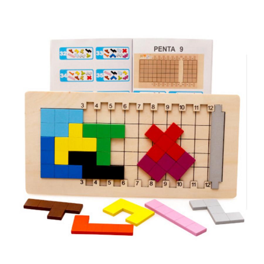 ของเล่นไม้ (กล่องลึกลับ) บล็อกไม้ปริศนา