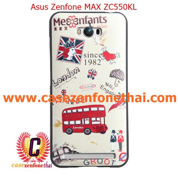 เคส asus zenfone max zc550kl TPU พิมพ์ลาย 3D England Style