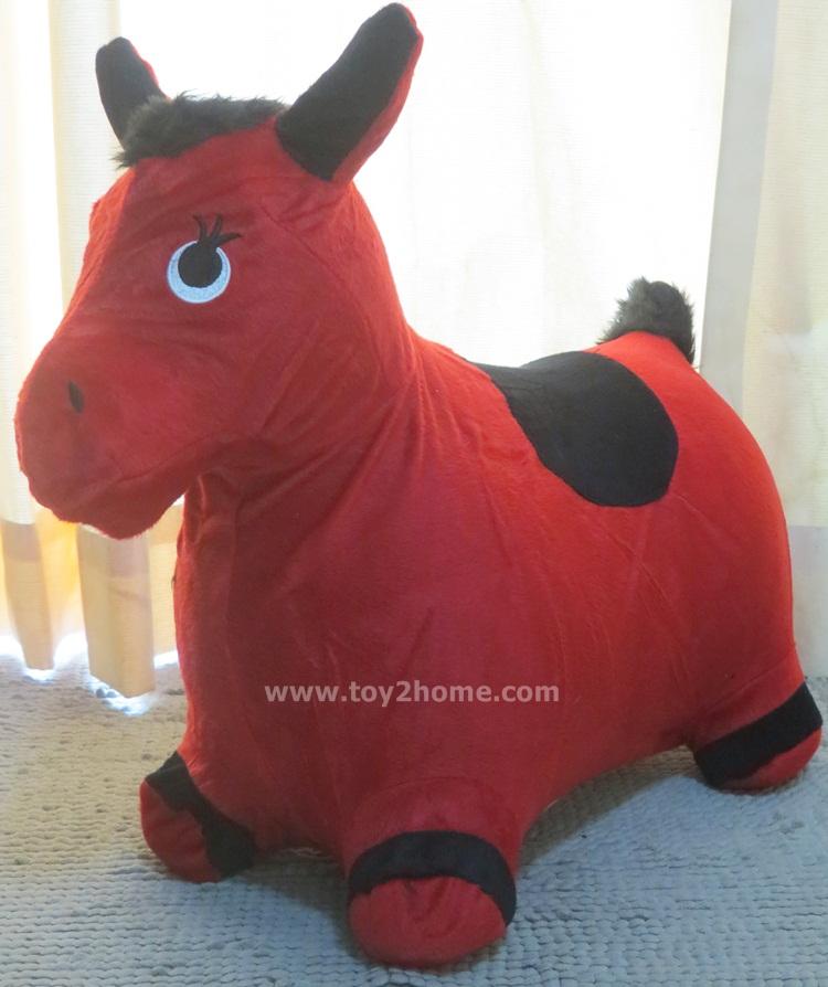 ตุ๊กตายางหุ้มผ้า (ถอดได้) รูปม้าแดง