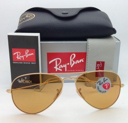 Ray Ban RB3025 112/O6 Aviator Matte Gold / Orange Polarized 58mm